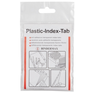 BINDERMAX IT-015P PLASTIC INDEX TAB 1.5   X 0.5   - PACK OF 15
