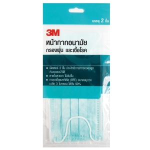 3M EARLOOP MASK BLUE PACK OF 2