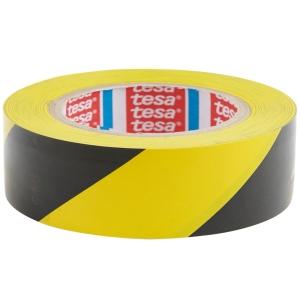 TESA เทปตีเส้นพื้น เหลือง/ดำ 50 มิลลิเมตร X 33 เมตร