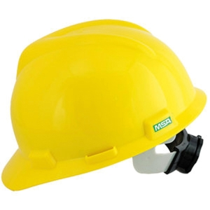 MSA V-GARD GB SAFETY HELMET PULL YELLOW