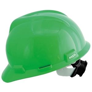 MSA V-GARD ANSI SAFETY HELMET PULL GREEN