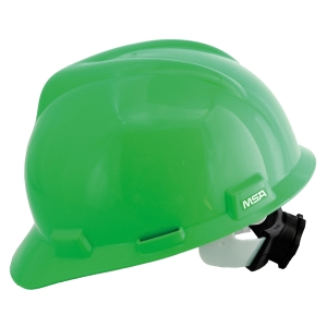 MSA V-GARD ANSI SAFETY HELMET TURN GREEN