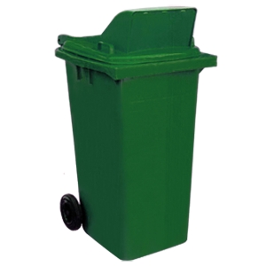 WASTE BIN W LITTER 120 LITRES GREEN