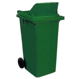ถังขยะกทม รุ่นฝามีช่องทิ้ง ความจุ 120ลิตร สีเขียว