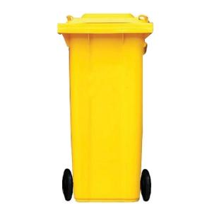 ถังขยะกทม ชนิดฝาเรียบ ความจุ 120ลิตร สีเหลือง