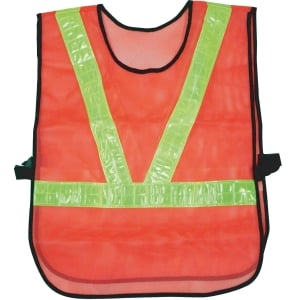 TRAFFIC VEST V STRIPE ORANGE