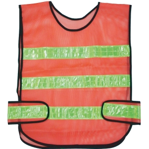 TRAFFIC VEST 3 STRIPES ORANGE