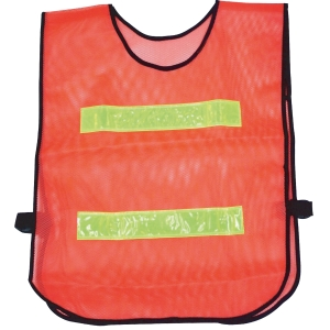 TRAFFIC VEST 2 STRIPES ORANGE