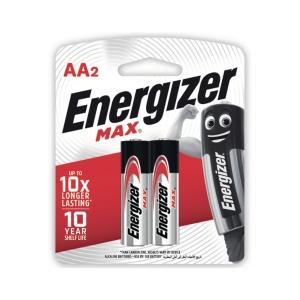 ENERGIZER MAX E91 AA ALKALINE BATT PACK OF 2