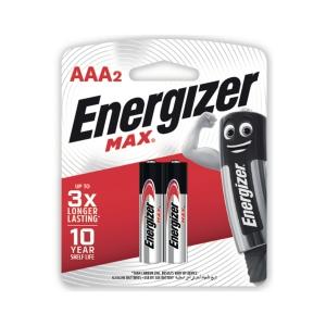 ENERGIZER MAX E92 AAA ALKALINE BATT PACK OF 2