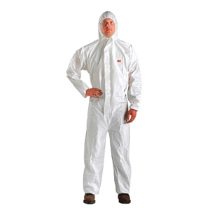 3M 4510 COVERALL CHEMICAL PROTECTION EXTRA LARGE WHITE