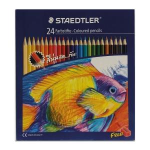 STAEDTLER ดินสอสีไม้ยาว 143 C24 กล่อง 24 สี