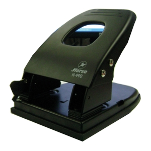 HORSE H-990 2 HOLE PAPER PUNCH ASSORTED COLOURS