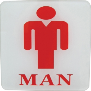 PLANGO ACRYLIC SIGN   MAN   SIZE 4   X 4