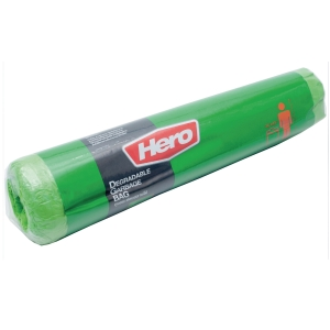 ROLL WASTE BAG 36X45 INCHES GREEN PACK OF 7