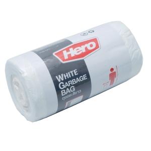ถุงขยะพลาสติกชนิดม้วน 18X20   ขาว แพ็ค 40 ใบ