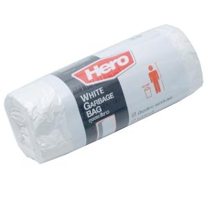 ถุงขยะพลาสติกชนิดม้วน 24X28   ขาว แพ็ค 20 ใบ