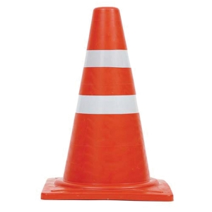TRAFFIC CONE ECO 50 CENTIMETRES 2 STRIPE