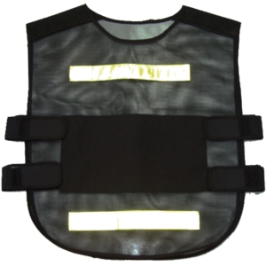 TRAFFIC VEST BLACK WHITE STRIPES