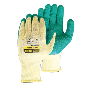 SAFETY JOGGER ถุงมือ CONSTRUCTO คอตตอน ลาเท็กซ์ L/9 เขียว คู่