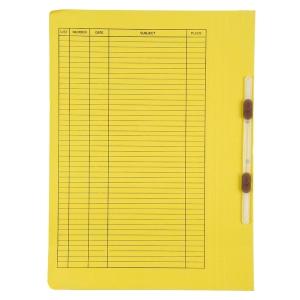 BAIPO แฟ้มเจาะลิ้นพลาสติก F 300 แกรม สีเหลือง แพ็ค 50 เล่ม