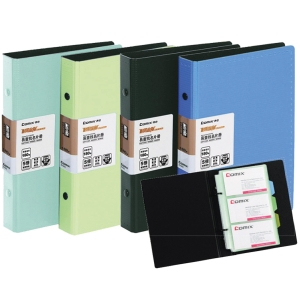 COMIX A-1643 BUSINESS CARD FOLDER FOR 180 CARDS ASSORTED COLOURS