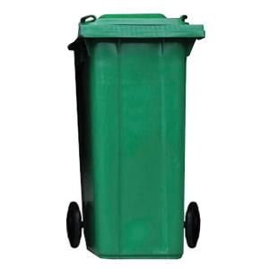 ถังขยะกทม ชนิดฝาเรียบ ความจุ 120ลิตร สีเขียว