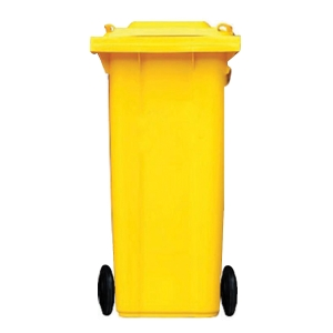 WASTE BIN F0006 240 LITRES YELLOW