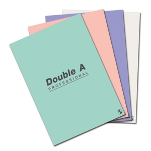 DOUBLE A NOTEBOOK 70G 24 SHEETS LIGHT COLOURS - PACK OF 4