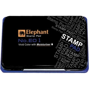 ELEPHANT E01 STAMP PAD 8CM X12.5CM BLUE