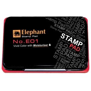 ELEPHANT E01 STAMP PAD 8CM X12.5CM RED