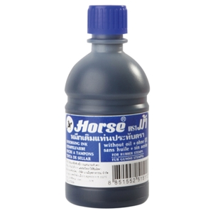 HORSE STAMP PAD REFILL INK 200CC BLUE