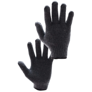 TOPDYE GLOVES COTTON-POLYESTER PAIR GREY PACK OF 12