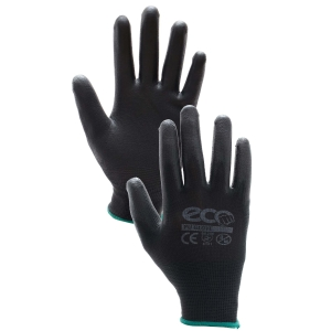 GLOVES PU PAIR LARGE BLACK