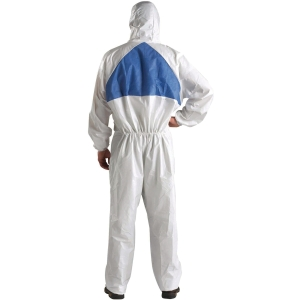 3M 4540 COVERALL CHEMICAL PROTECTION MEDIUM WHITE/BLUE