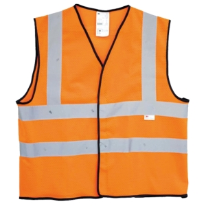 3M 2925 FLU ORANGE SAFETY VEST MEDIUM