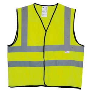 3M 2925 FLU LIME YELLOW SAFETY VEST MEDIUM
