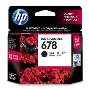 HP 678 CZ107AA ORIGINAL INKJET CARTRIDGE BLACK