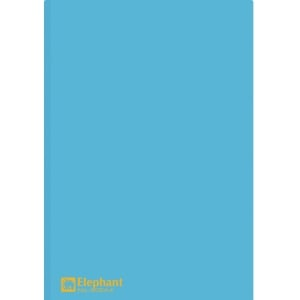 ELEPHANT 405 PLASTIC FOLDER A4 150MU BLUE - PACK OF 12