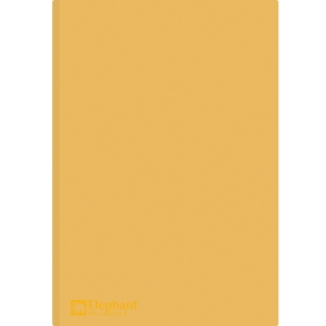 ELEPHANT 405 PLASTIC FOLDER A4 150MU ORANGE - PACK OF 12