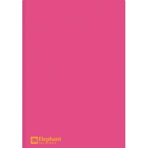 ELEPHANT 405 PLASTIC FOLDER A4 150MU RED - PACK OF 12