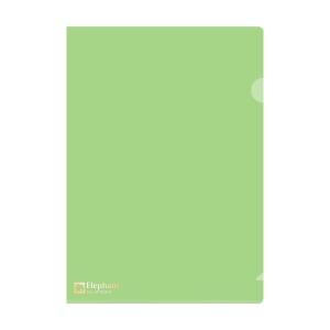 ELEPHANT 410 PLASTIC FOLDER A4 180MU GREEN - PACK OF 12