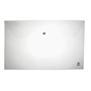 ORCA 120 PLASTIC ENVELOPE WITH BUTTON HORIZONTAL F WHITE - PACK OF 12