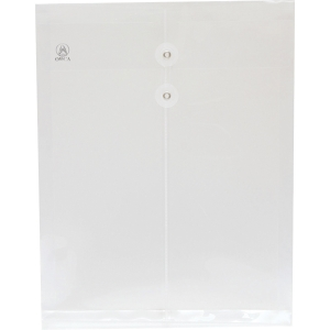 ORCA EXPANDING PLASTIC ENVELOPE WITH STRING A4 WHITE - PACK OF 12