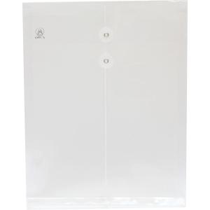 ORCA ซองเอกสารพลาสติกกระดุมเชือก A4 ขาว แพ็ค 12 เล่ม
