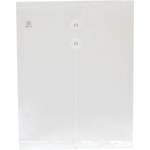 ORCA EXPANDING PLASTIC ENVELOPE WITH STRING F WHITE - PACK OF 12