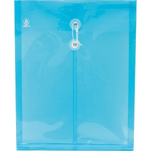 ORCA EXPANDING PLASTIC ENVELOPE WITH STRING F BLUE - PACK OF 12