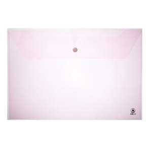 ORCA 120 PLASTIC ENVELOPE WITH BUTTON HORIZONTAL A4  PINK - PACK OF 12