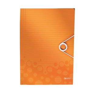 LEITZ แฟ้มกล่องเก็บเอกสาร WOW A4 สัน 30 มิลลิเมตร สีส้ม
