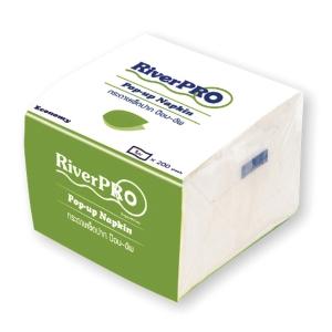 RIVERPRO กระดาษเช็ดปากป๊อปอัพ ECONOMY 200 แผ่น แพ็ค 12 ห่อ